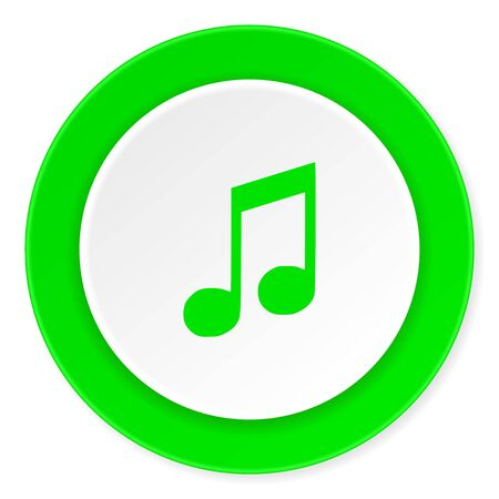 melodic: music green fresh circle 3d modern flat design icon on white background