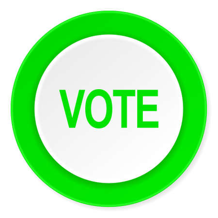 elect: vote green fresh circle 3d modern flat design icon on white background