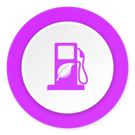 biofuel: biofuel violet pink circle 3d modern flat design icon on white background