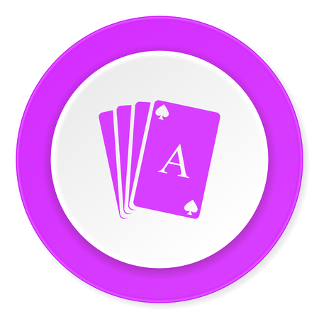 picto: card violet pink circle 3d modern flat design icon on white background Stock Photo