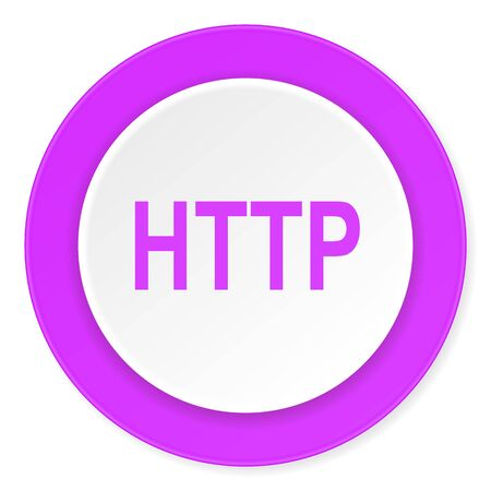 http: http violet pink circle 3d modern flat design icon on white background