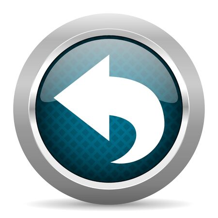 chrome border: back blue silver chrome border icon on white background