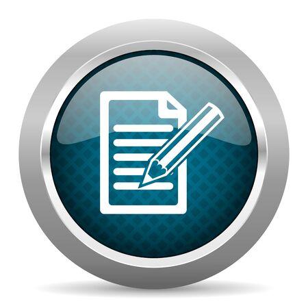 chrome border: subscribe blue silver chrome border icon on white background