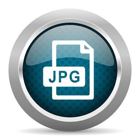 chrome border: jpg file blue silver chrome border icon on white background