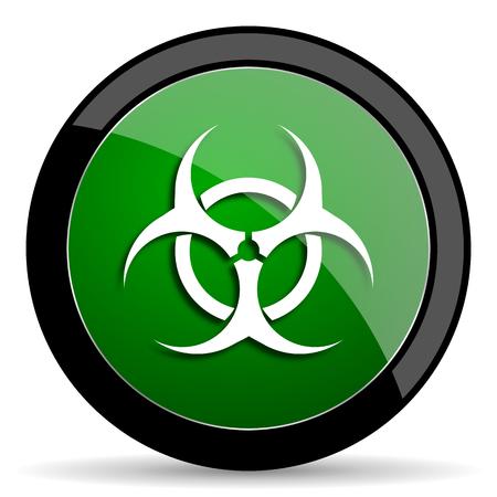 varez: biohazard green web glossy circle icon on white background