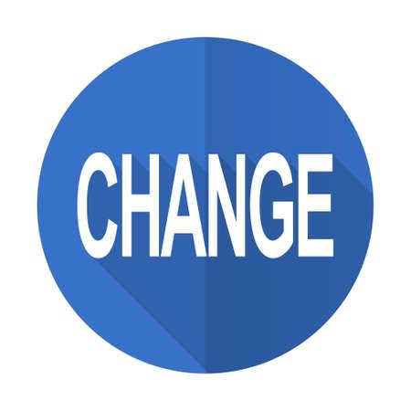 better icon: change blue web flat design icon on white background