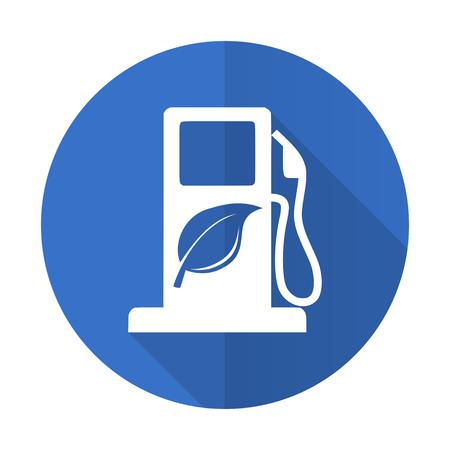 agro: biofuel blue web flat design icon on white background