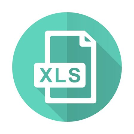calc: xls file blue web flat design circle icon on white background
