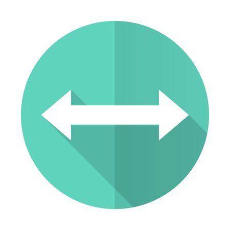 sterring: arrow blue web flat design circle icon on white background Stock Photo