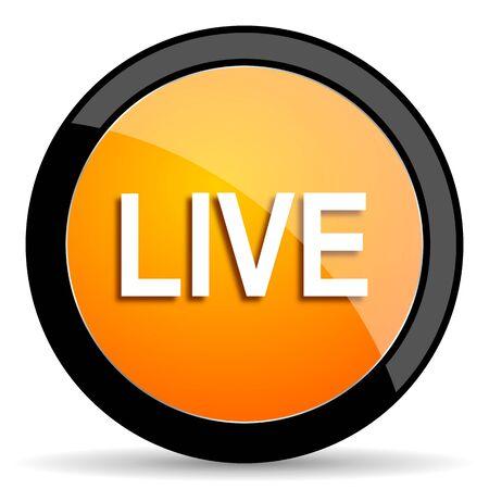 web cast: live orange icon