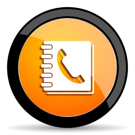 phonebook: phonebook orange icon