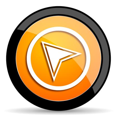 communication icon: navigation orange icon