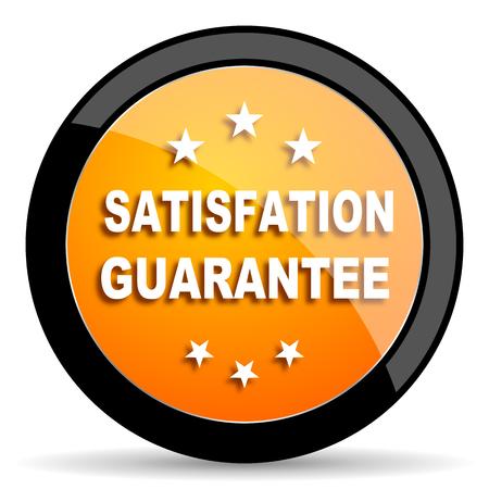 satisfaction guarantee: satisfaction guarantee orange icon