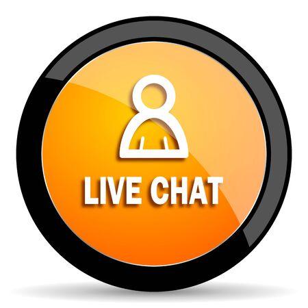 people discuss: live chat orange icon