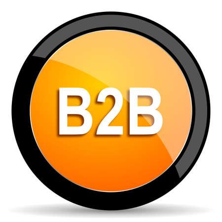 b2b: b2b orange icon Stock Photo