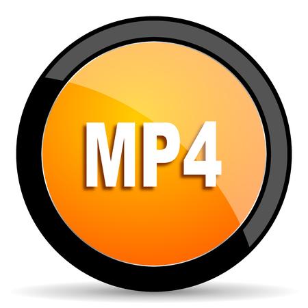 mp4: mp4 orange icon