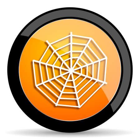 spider web: spider web orange icon