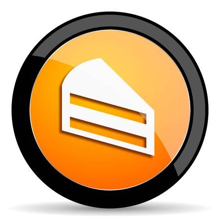 orange cake: cake orange icon