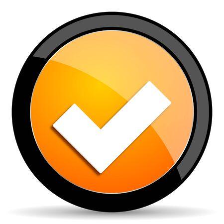 approval label: accept orange icon
