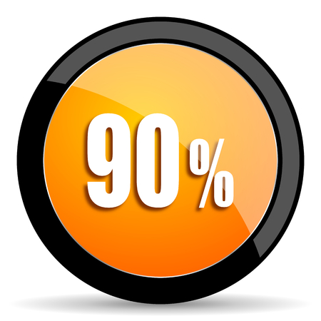90: 90 percent orange icon