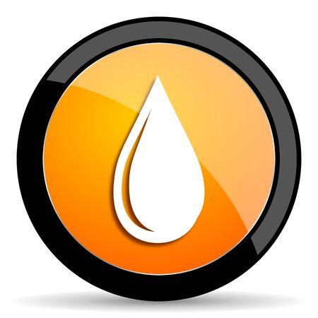 drinkable: water drop orange icon