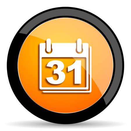 appointment book: calendar orange icon
