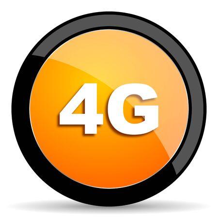 4g: 4g orange icon
