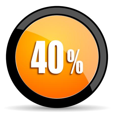 40: 40 percent orange icon
