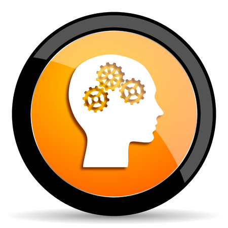 brainy: head orange icon