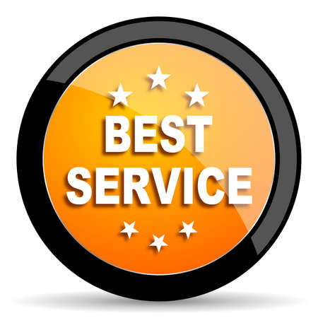 best service: best service orange icon