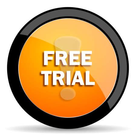 free trial: free trial orange icon