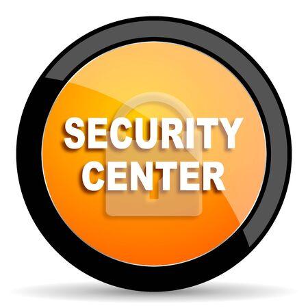 security icon: security center orange icon