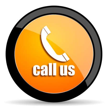 call us: call us orange icon