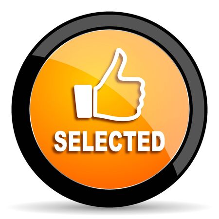 selected: selected orange icon