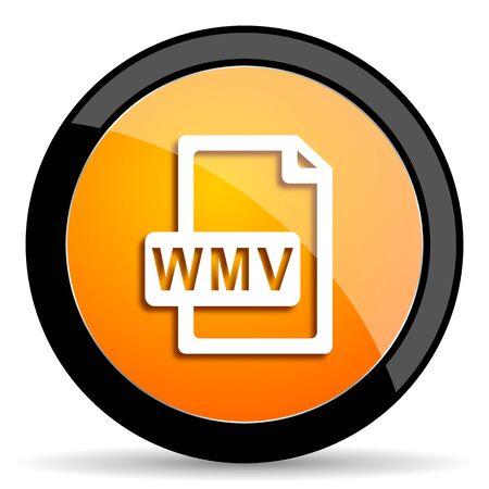 wmv: wmv file orange icon