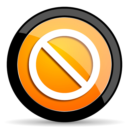 denied: access denied orange icon Stock Photo