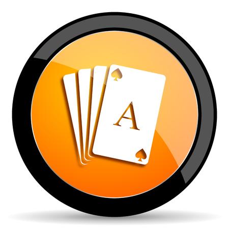 picto: card orange icon Stock Photo
