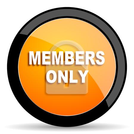 members: members only orange icon