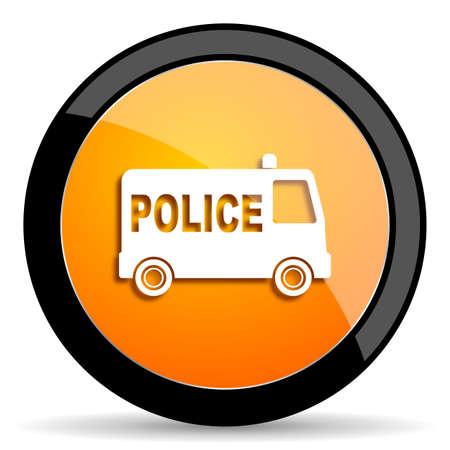 highway patrol: police orange icon Stock Photo