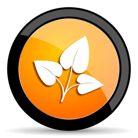 crop circles: leaf orange icon