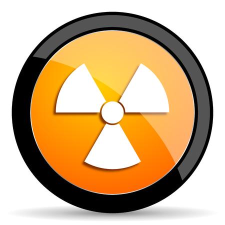 gamma radiation: radiation orange icon Stock Photo