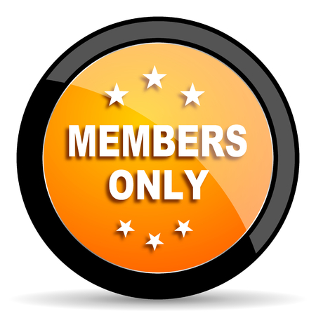 only members: members only orange icon