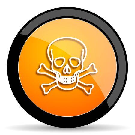 pirating: skull orange icon Stock Photo