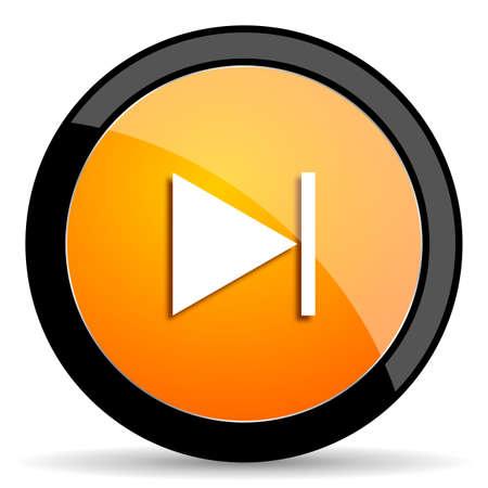 reading app: next orange icon Stock Photo