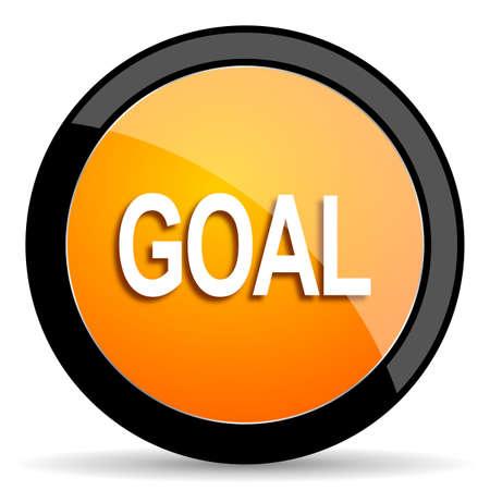 goal setting: goal orange icon Stock Photo