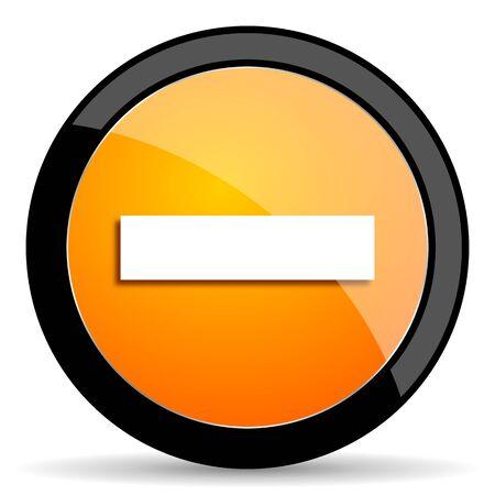 minus: minus orange icon