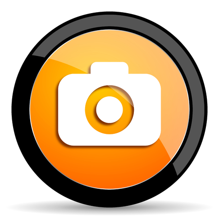 picto: photo camera orange icon