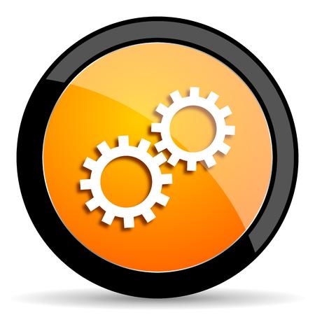engineering icon: gear orange icon