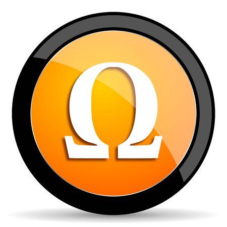 antioxidant: omega orange icon Stock Photo