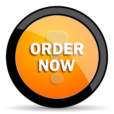 order now: order now orange icon Stock Photo